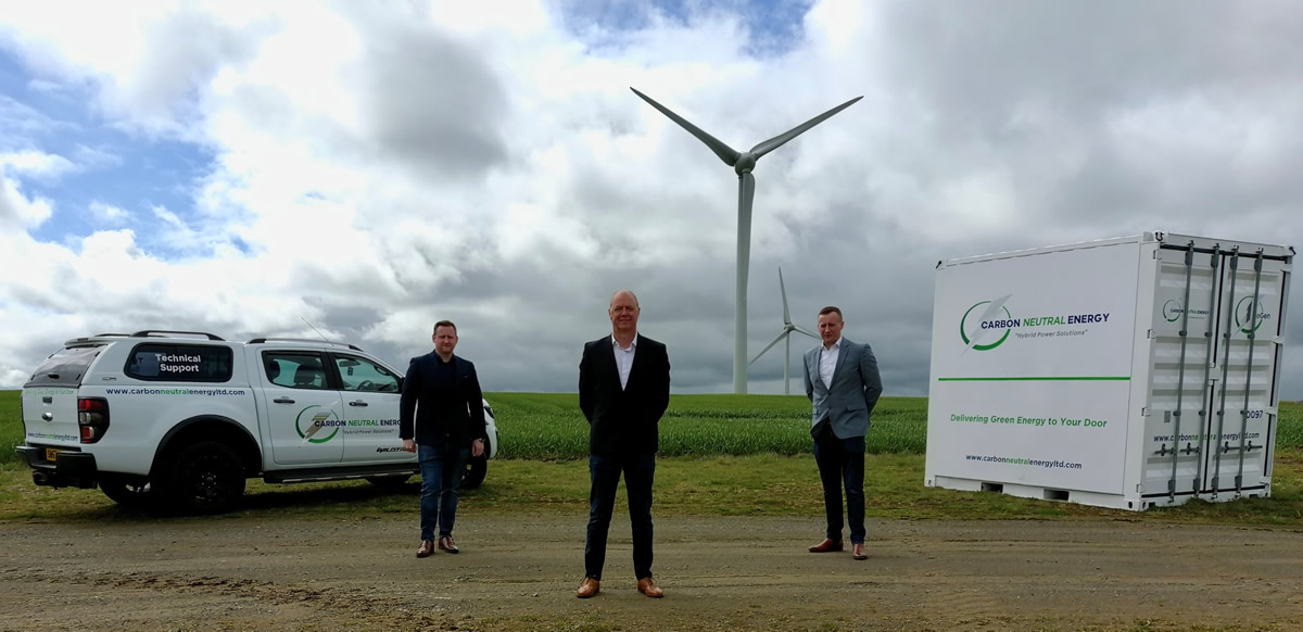 CNE mobile, green battery storage